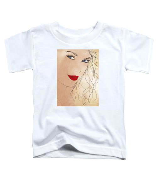 Taylor Red Lips Toddler T-Shirt by Pablo Franchi