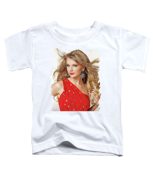 Taylor Swift Toddler T-Shirt by Twinkle Mehta