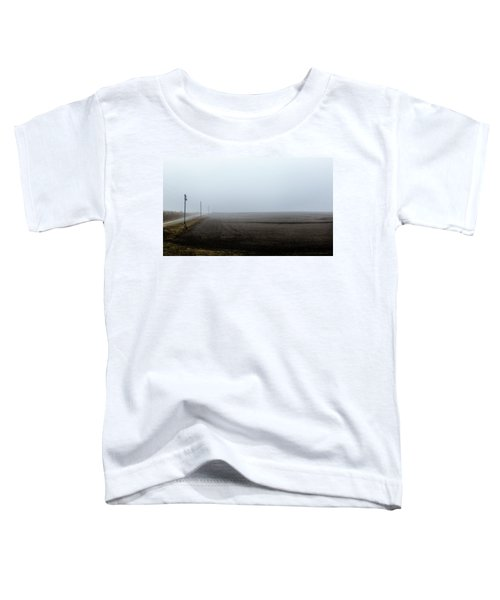 Telephone Poles Along A Foggy Field Toddler T-Shirt
