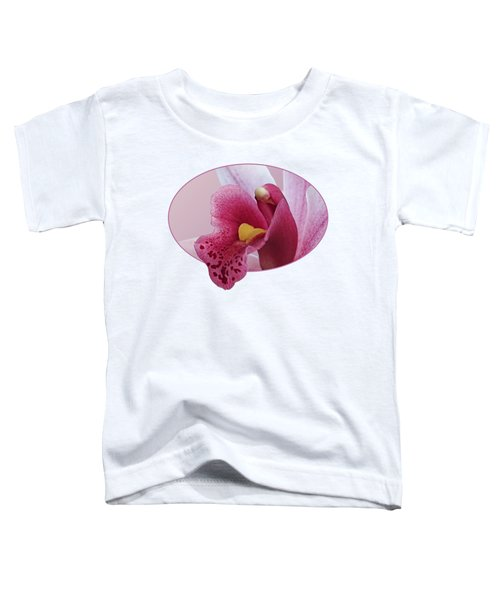 Temptation - Pink Cymbidium Orchid Toddler T-Shirt by Gill Billington