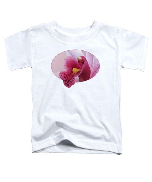 Temptation - Pink Cymbidium Orchid Toddler T-Shirt