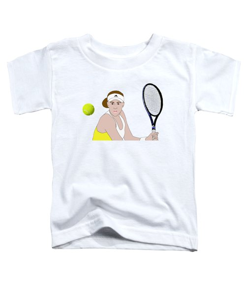 Tennis Ball Focus Toddler T-Shirt by Priscilla Wolfe