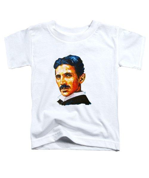Tesla - Pure Genius Toddler T-Shirt by Konni Jensen