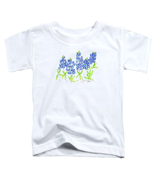 Texas Bluebonnets Watercolor Painting By Kmcelwaine Toddler T-Shirt
