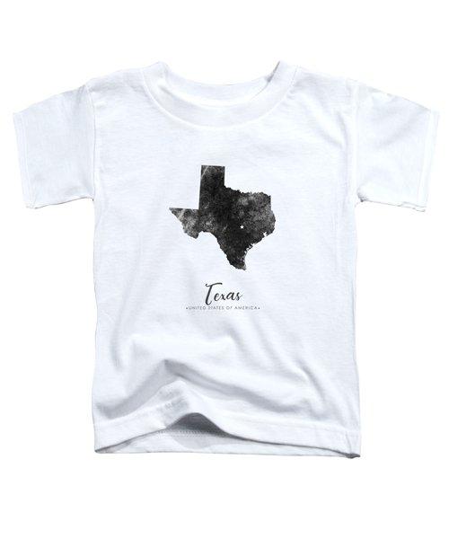 Texas State Map Art - Grunge Silhouette Toddler T-Shirt