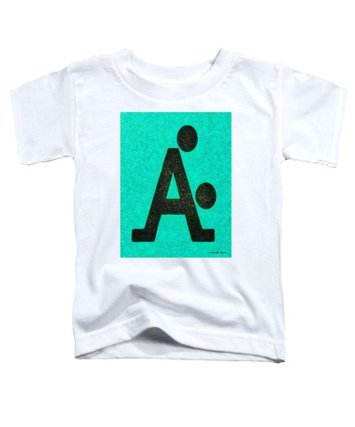 The A With Style Cyan - Pa Toddler T-Shirt