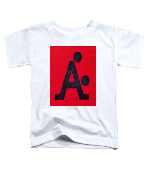 The A With Style Red - Pa Toddler T-Shirt