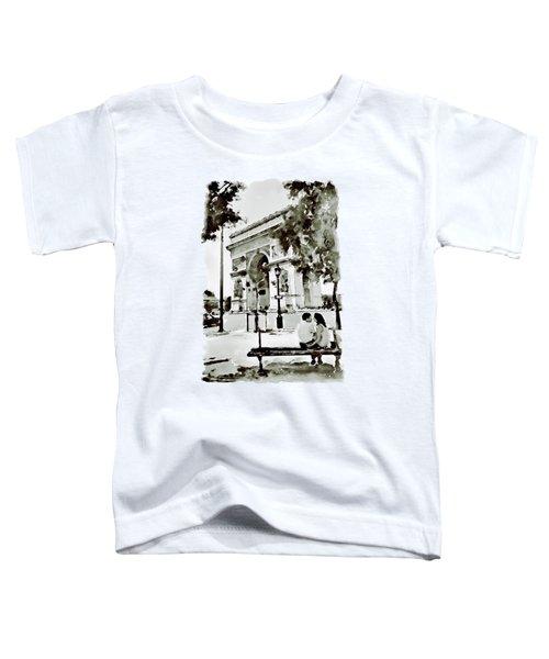 The Arc De Triomphe Paris Black And White Toddler T-Shirt