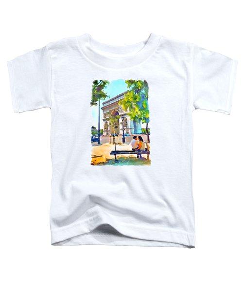 The Arc De Triomphe Paris Toddler T-Shirt by Marian Voicu