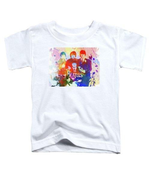 The Beatles Paint Splatter  Toddler T-Shirt