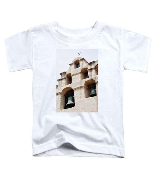 The Bells Of Mission San Gabriel Arcangel Portrait Toddler T-Shirt