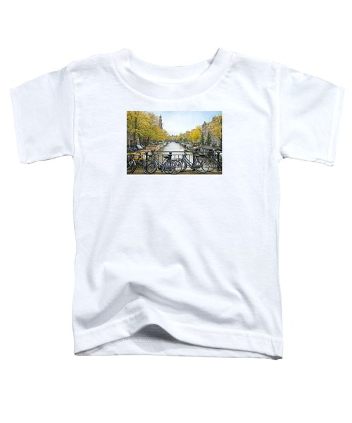 The Bicycle City Of Amsterdam Toddler T-Shirt