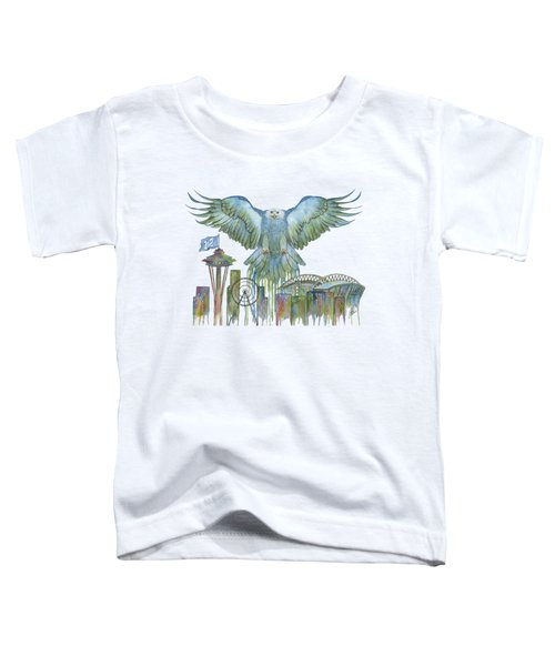 The Blue And Green Overlay Toddler T-Shirt by Julie Senf