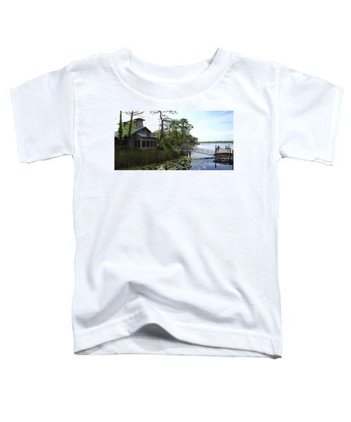 The Boathouse At Watercolor Toddler T-Shirt by Megan Cohen