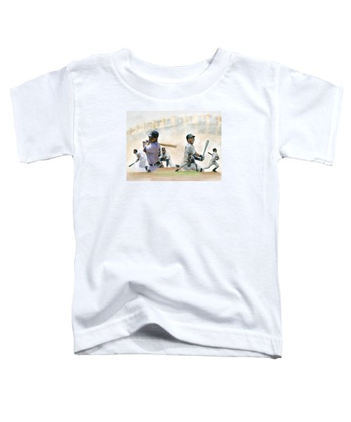 The Captains II Don Mattingly And Derek Jeter Toddler T-Shirt by Iconic Images Art Gallery David Pucciarelli