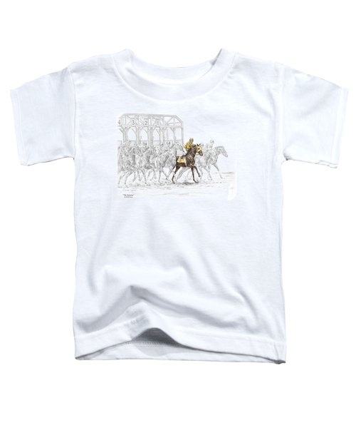 The Favorite - Thoroughbred Race Print Color Tinted Toddler T-Shirt