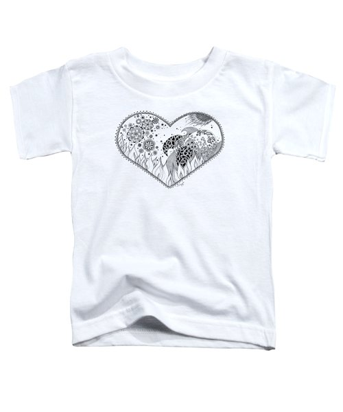 Toddler T-Shirt featuring the drawing The Four Elements by Ana V Ramirez