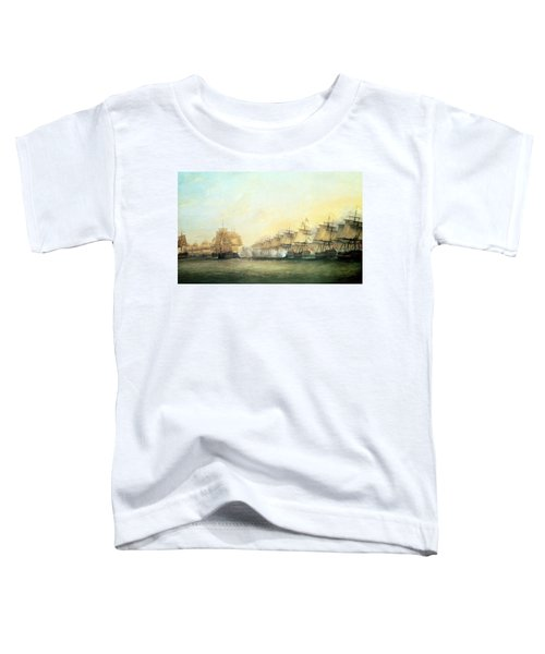 The Fourth Action Off Trincomalee Between The English And The French Toddler T-Shirt