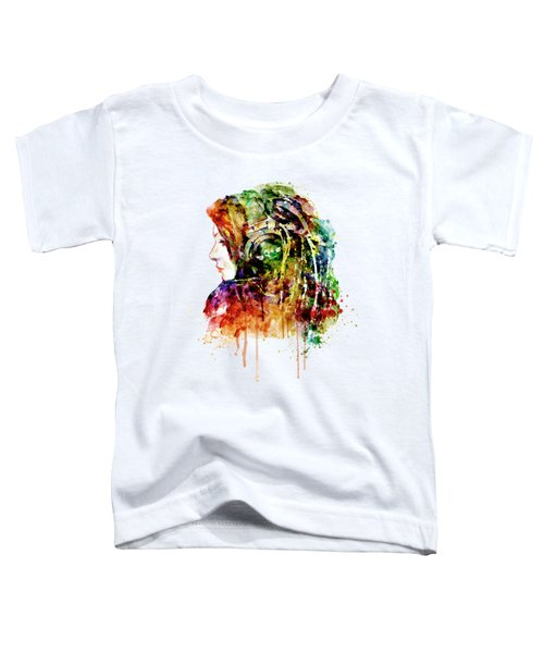 The Girl Is A Dj Toddler T-Shirt