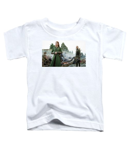 The Hobbit The Battle Of The Five Armies Evangeline Lilly Orlando Bloom Toddler T-Shirt