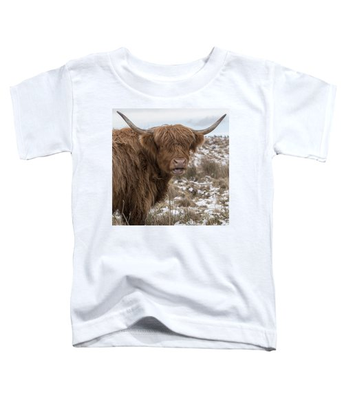 The Laughing Cow, Scottish Version Toddler T-Shirt by Jeremy Lavender Photography