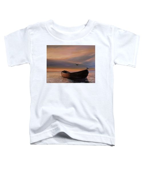 A Lone Boat Toddler T-Shirt