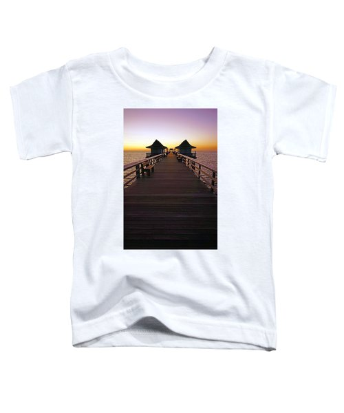 The Naples Pier At Twilight Toddler T-Shirt