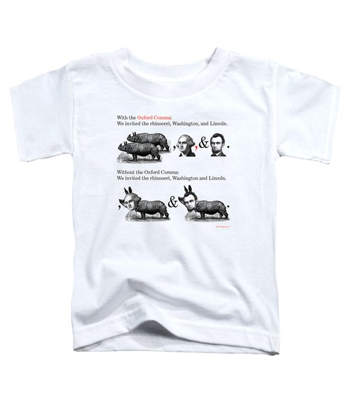 The Oxford Comma Toddler T-Shirt