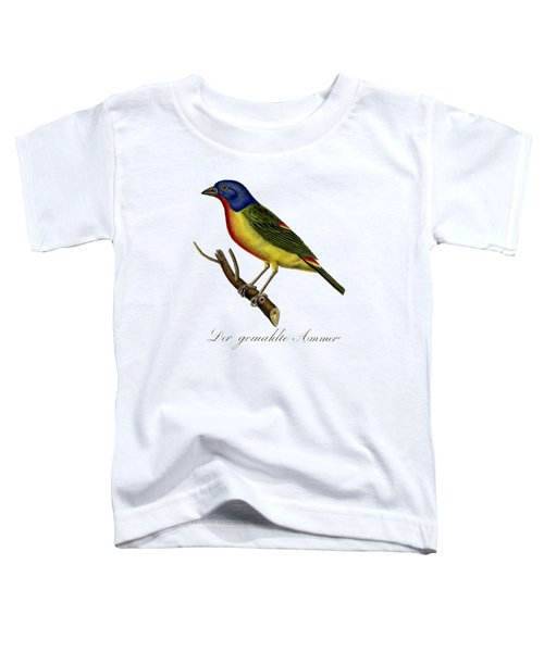 The Painted Bunting Toddler T-Shirt by Unknown
