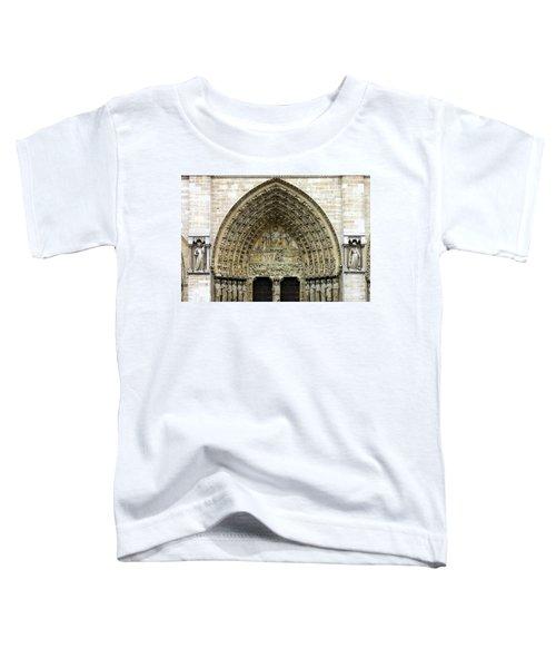 The Portal Of The Last Judgement Of Notre Dame De Paris Toddler T-Shirt