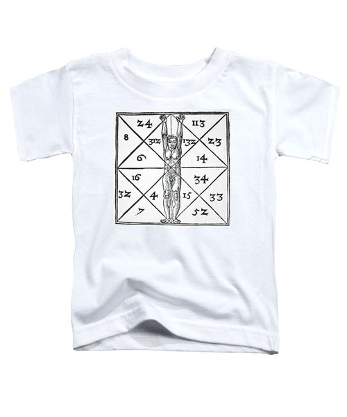 The Proportions Of Man And Their Occult Numbers From De Occulta Philosophia Libri IIi Toddler T-Shirt