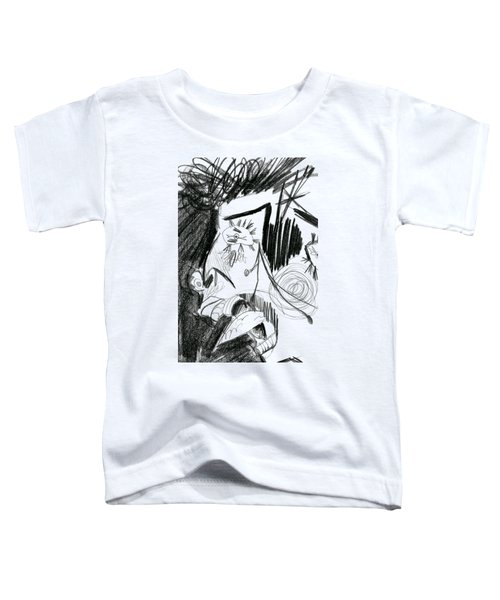 The Scream - Picasso Study Toddler T-Shirt by Michelle Calkins