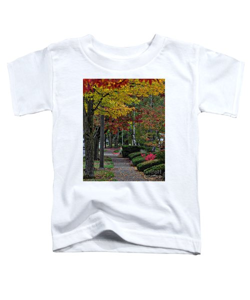 The Sidewalk And Fall Toddler T-Shirt