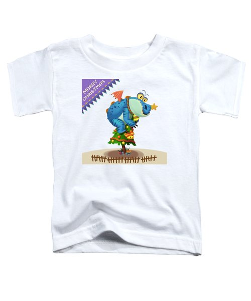 The Sloth Dragon Monster Comes To Wish You Merry Christmas Toddler T-Shirt