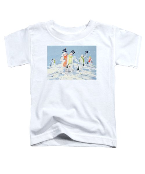 The Snowmen's Party Toddler T-Shirt