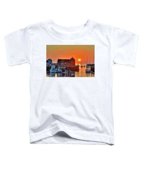 The Sun Rising By Motif Number 1 In Rockport Ma Bearskin Neck Toddler T-Shirt
