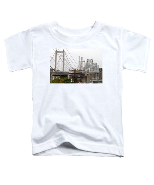 The Two Carquinez Bridges At Crockett And Vallejo California . Aka Alfred Zampa Memorial Bridge . 7d8919 Toddler T-Shirt