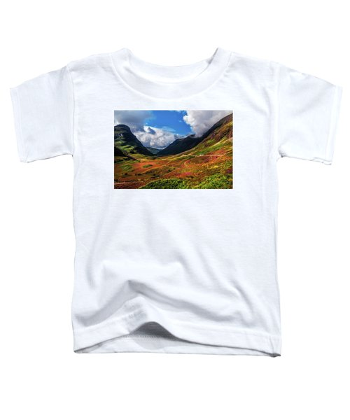 The Valley Of Three Sisters. Glencoe. Scotland Toddler T-Shirt