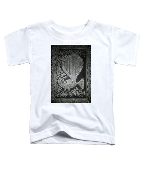 The Madhubani Peacock Toddler T-Shirt