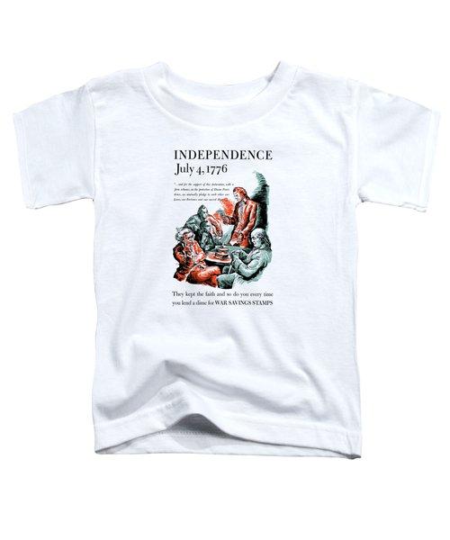 They Kept The Faith - Ww2 Toddler T-Shirt