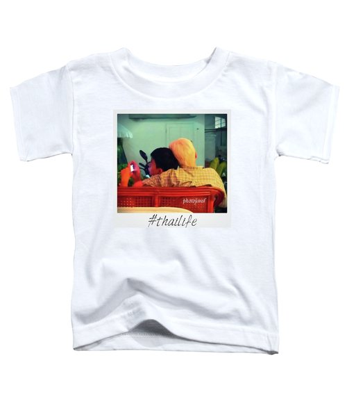 Toddler T-Shirt featuring the photograph Thinking About Escaping Us by Mr Photojimsf