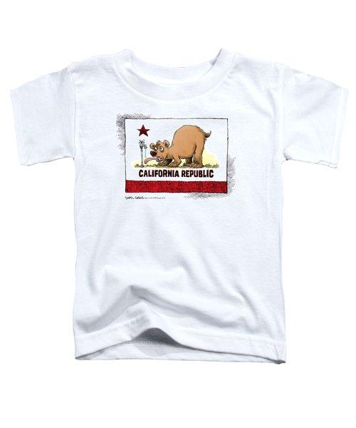 Thirsty California Flag Toddler T-Shirt