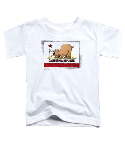 Thirsty California Flag Toddler T-Shirt