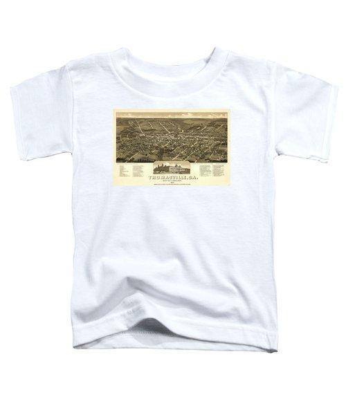 Thomasville, Ga. County-seat Of Thomas-county 1885 Toddler T-Shirt