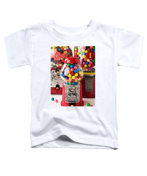 Three Bubble Gum Machines Toddler T-Shirt