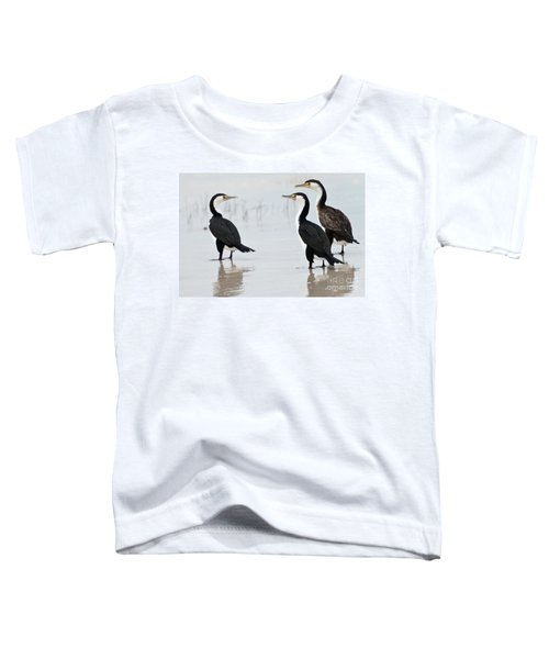 Toddler T-Shirt featuring the photograph Three Cormorants by Werner Padarin