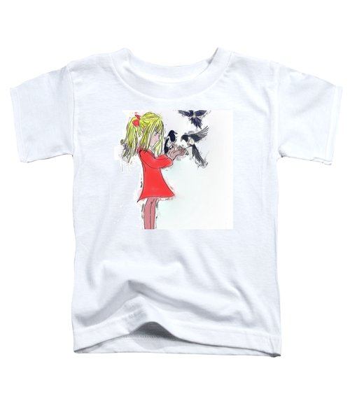 Three For A Girl - Work In Toddler T-Shirt