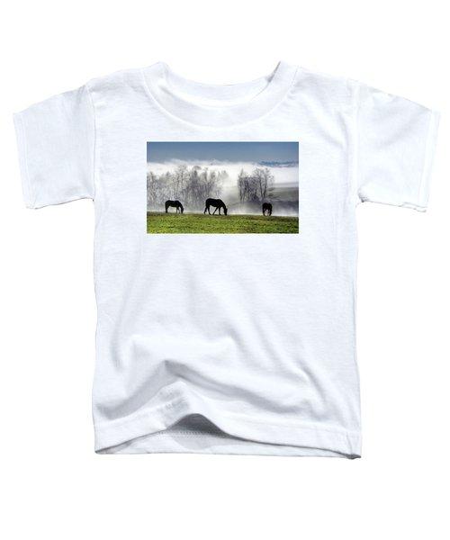 Three Horse Morning Toddler T-Shirt