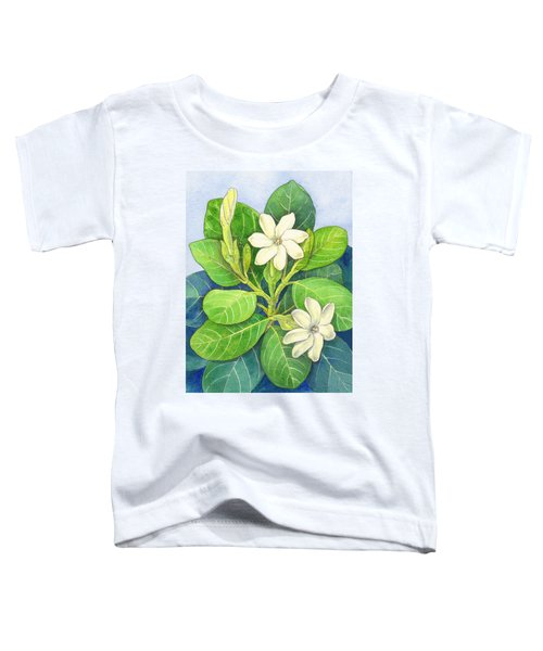 Toddler T-Shirt featuring the painting Tiare Maori by Judith Kunzle