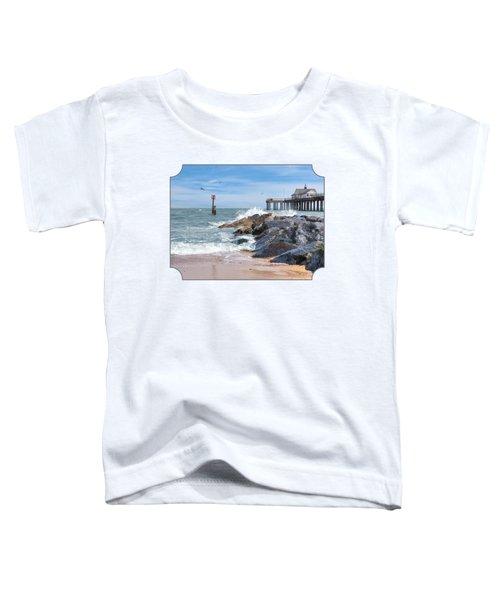 Tide's Turning - Southwold Pier Toddler T-Shirt by Gill Billington